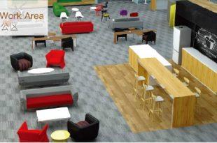 cafe work area